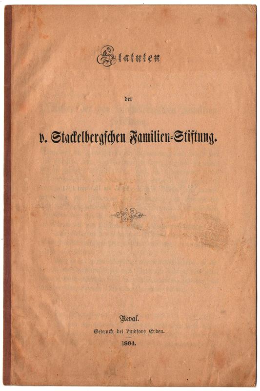 Statuten des Familienverbandes von 1864