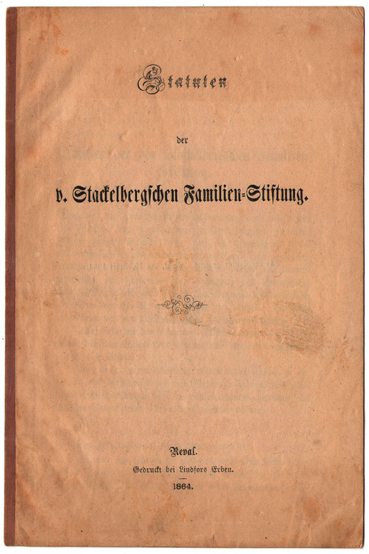 Statutes of the Family Association of 1864